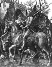 """Albrecht Durer""""Knight, Death and the Devil""""1513 -Copperplate Engraving"""