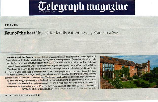The Saturday Telegraph Magazine - 14 November 2015