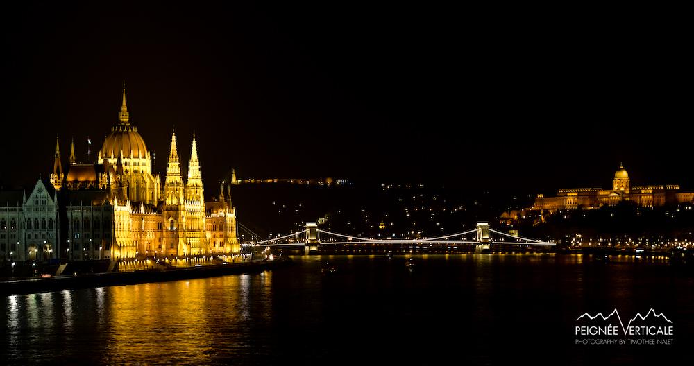 Night view from Margit Bridge