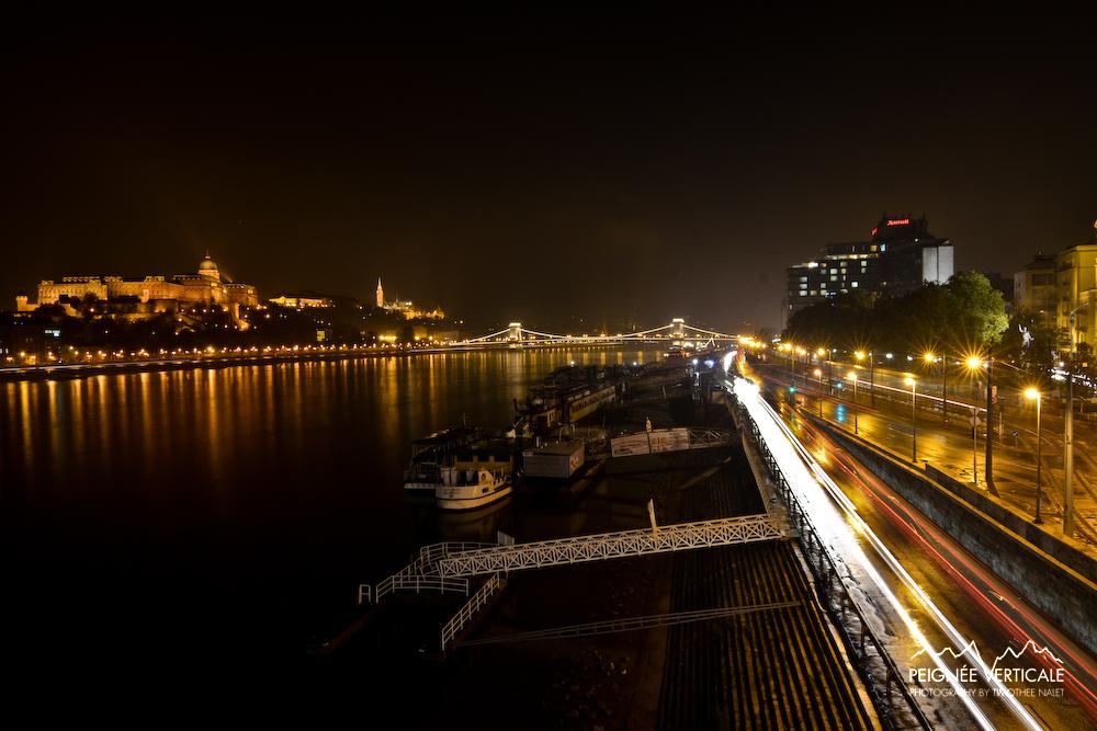 Night view from Lanchid Bridge