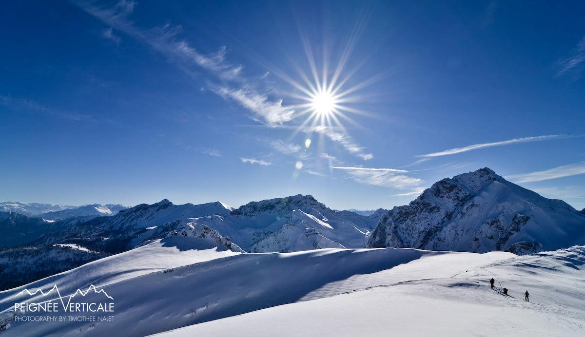 Ski de randonnée au Trélod - Bauges