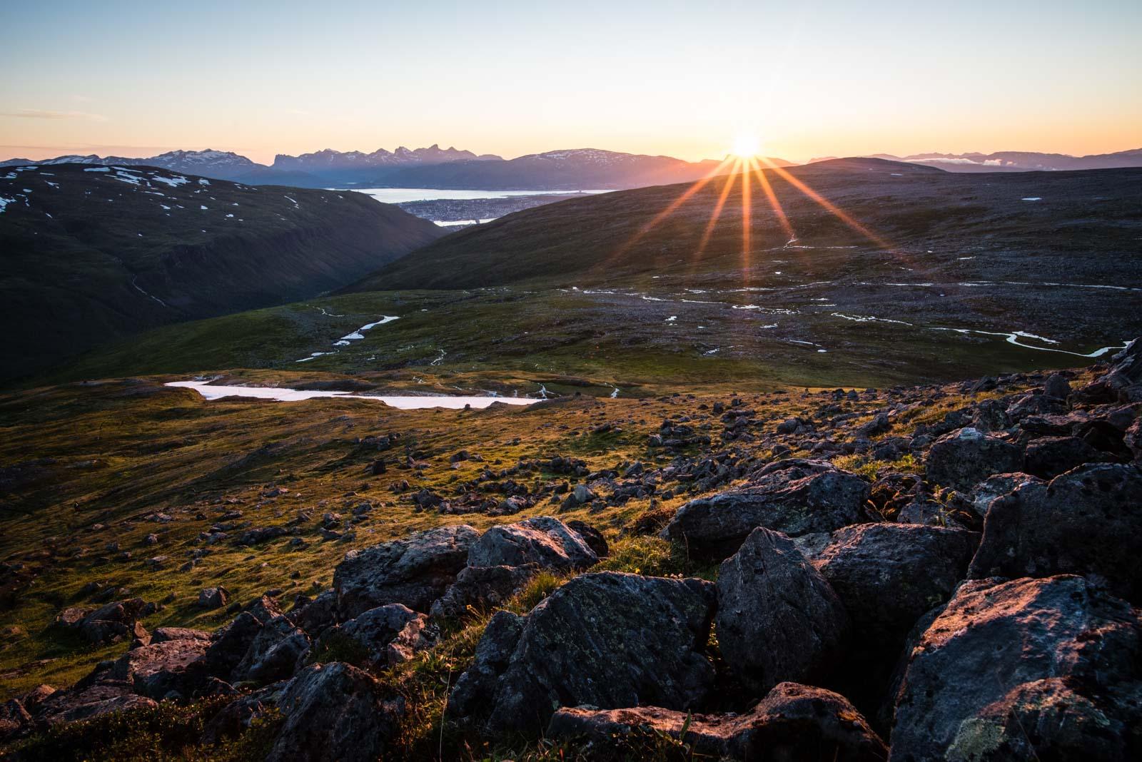 Soleil de minuit sur Tromsø