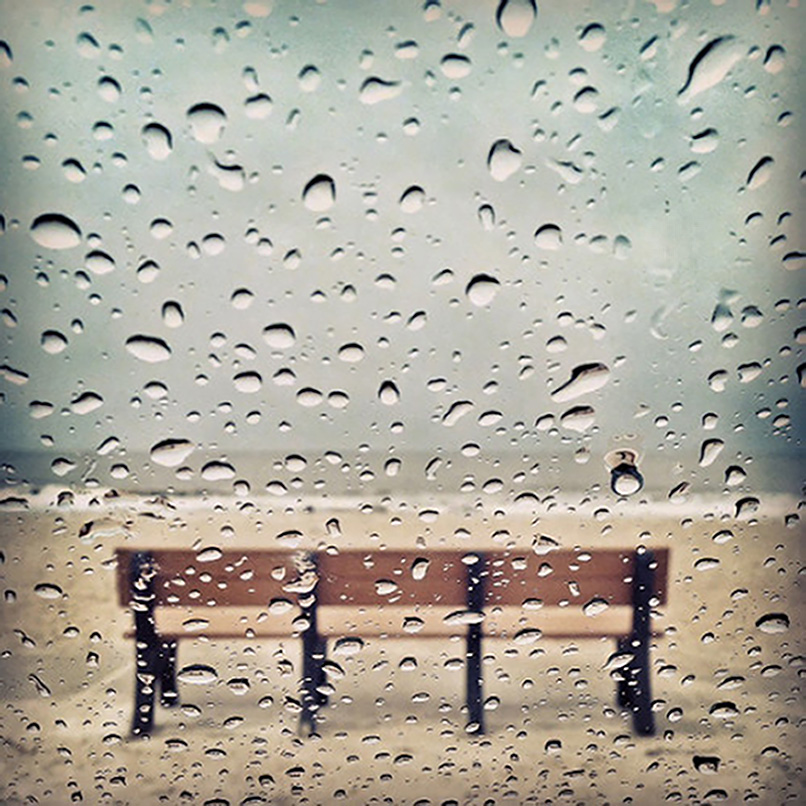 Rainy Day at the Beach. iPhone capture. ©2015 Lee Anne White.
