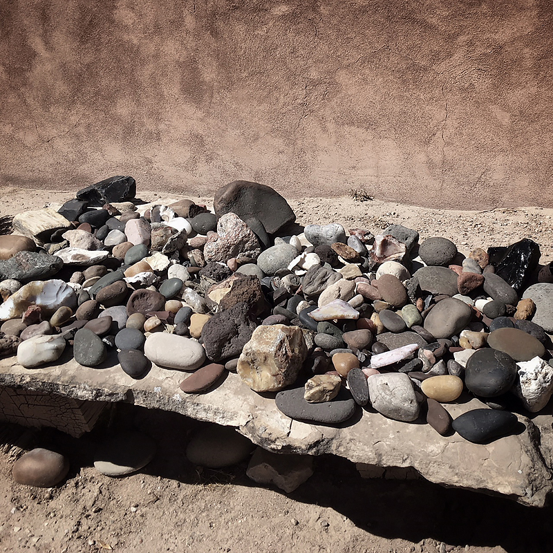 One of Georgia O'Keeffe's rock collections. O'Keeffe home in Abiquiu, NM.
