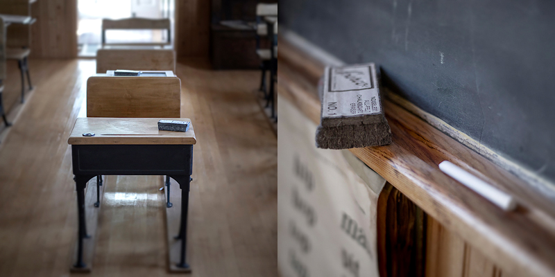 One-room schoolhouse  (museum) on Madeline Island, Wisconsin. Photo ©2019 Lee Anne White.