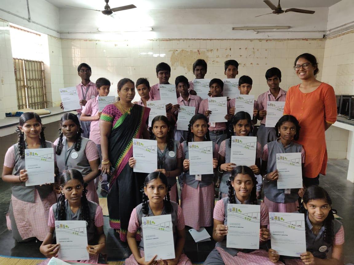 CHSS, Nesapakkam - Team: Abinaya Rajavelu & Manasa Ramanathan
