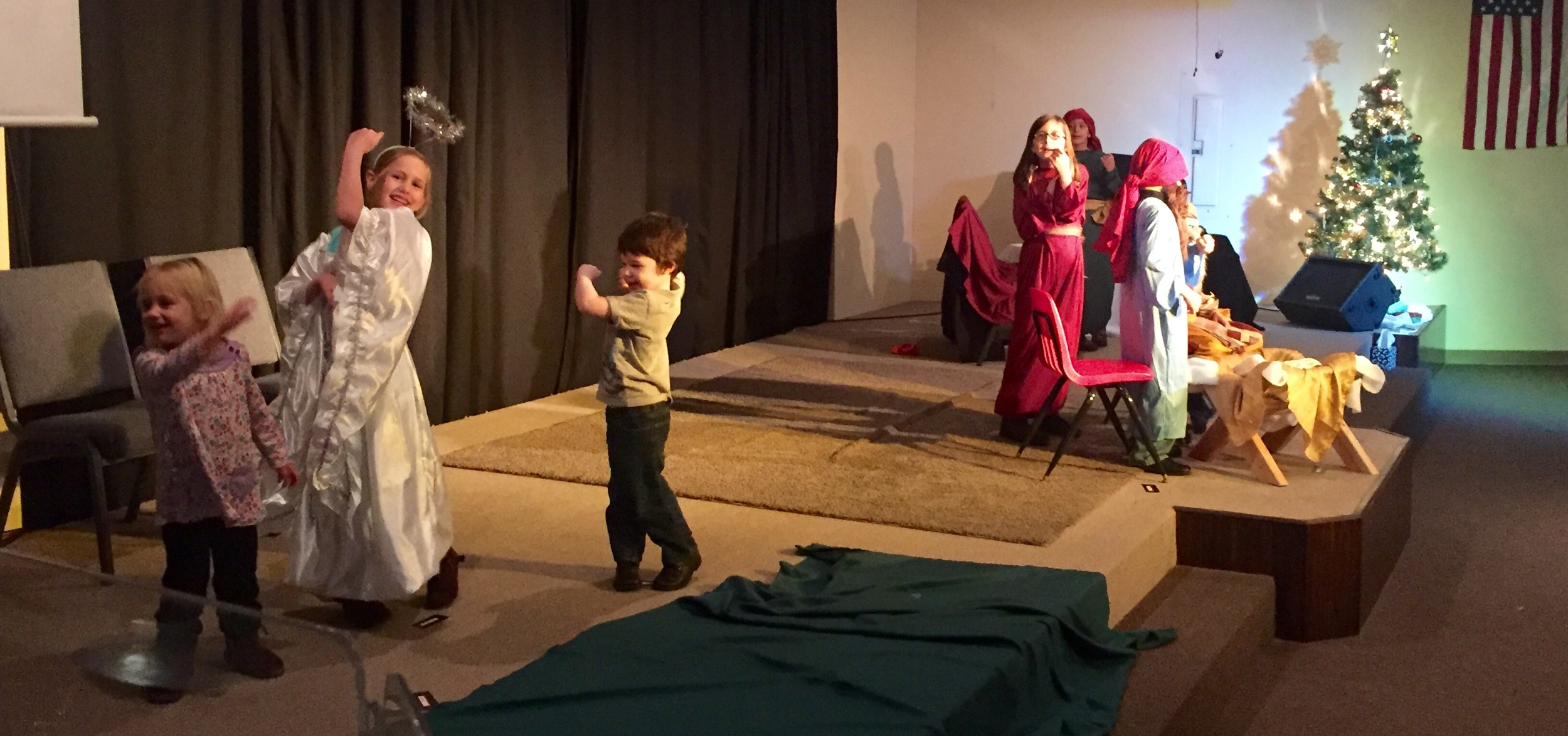 Dress Rehearsal for the children's Play