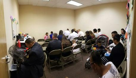 Photo taken at the end of prayer meeting after a few people had already left the room!