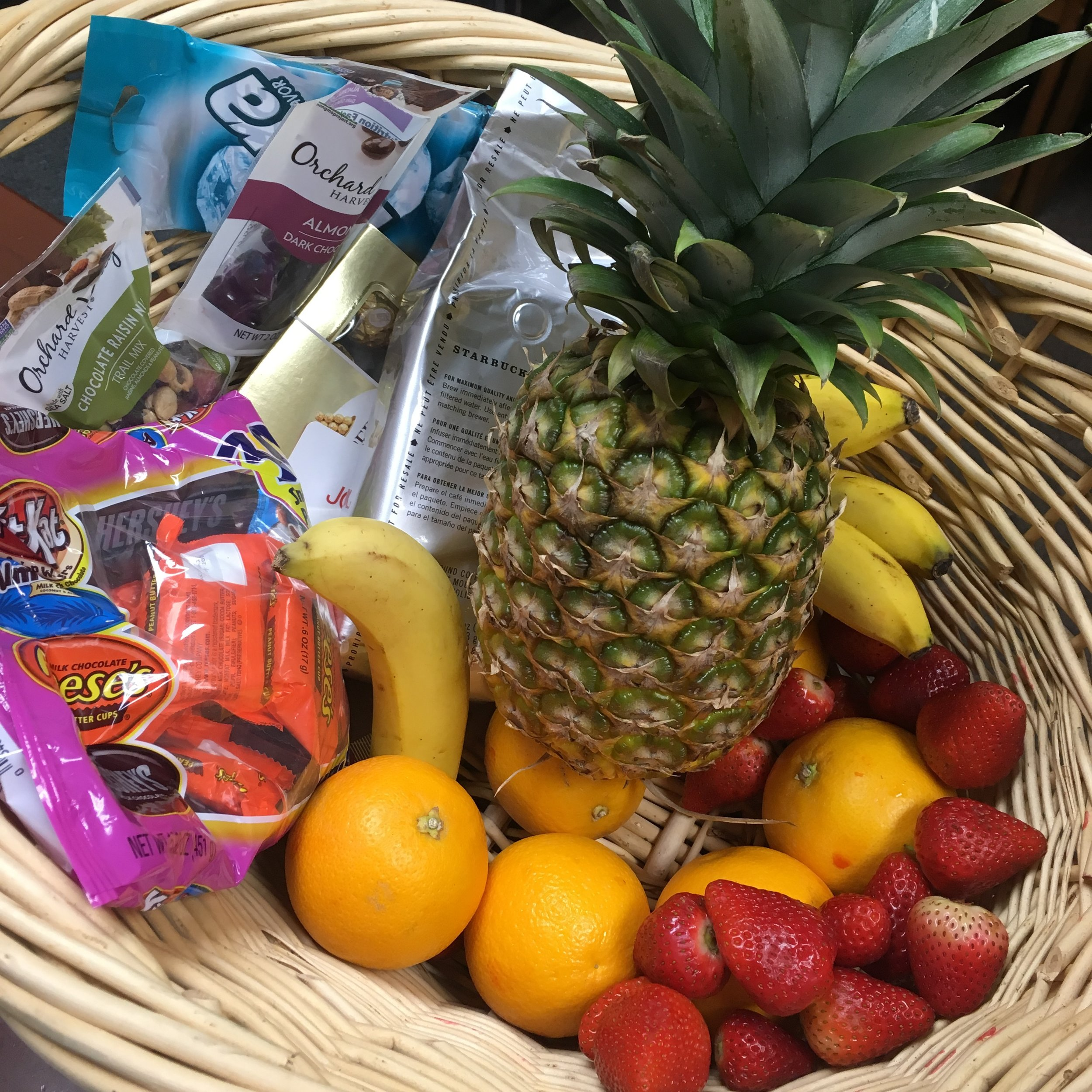 Basket of goodies for Pastor Appreciation Month