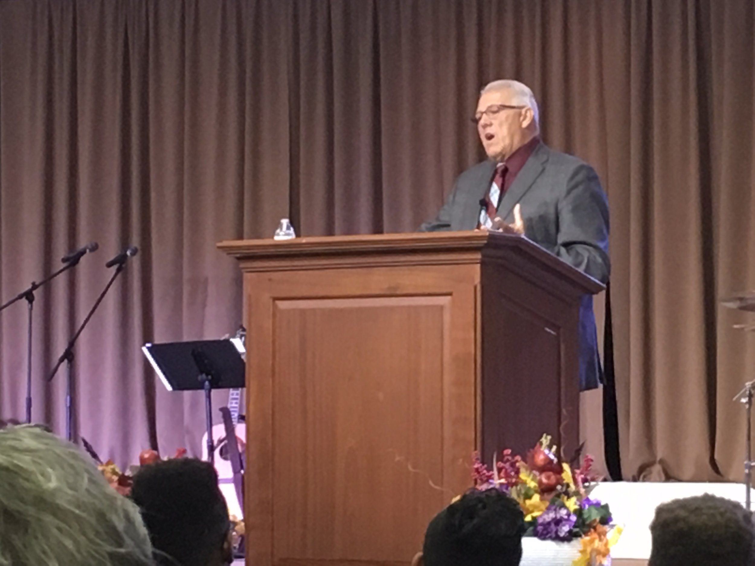 Pastor Louie Lobato from  The Potter's House Church in Bullhead City  preaching in  The Potter's House in Norfolk, VA