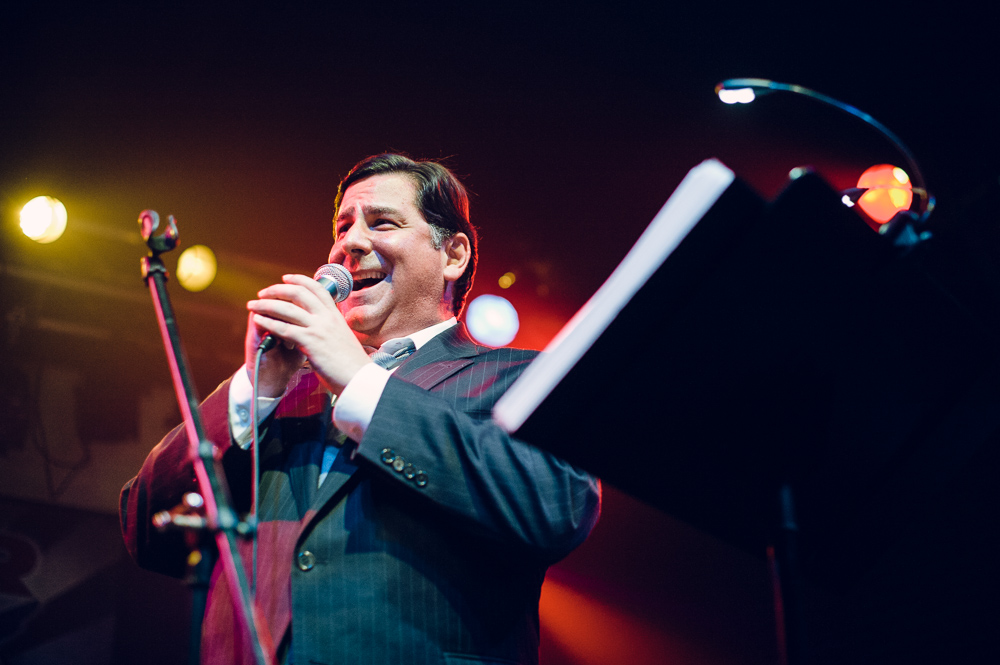 Bill Peduto  singing  'Surrender' by Cheap Trick at a charity karaoke event for  Haitian Families First .