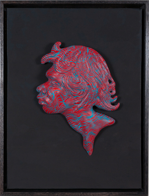 Aunty - Egg tempera with relief on canvas
