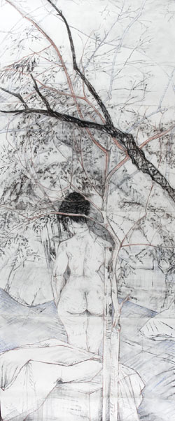 Metamorphosis - Charcoal & pastel on paper 2008