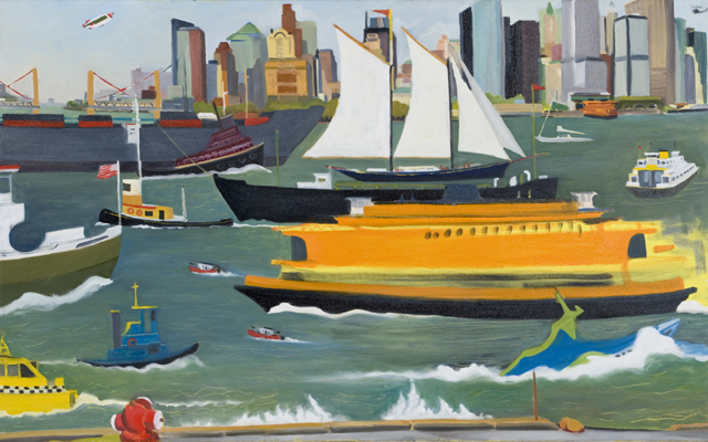 Passing Ships NY - Oil on canvas 2005