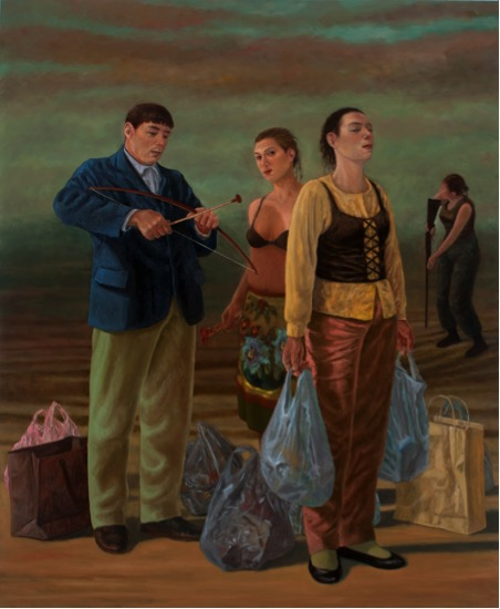 The Gatherers  167x137 cm oil on linen