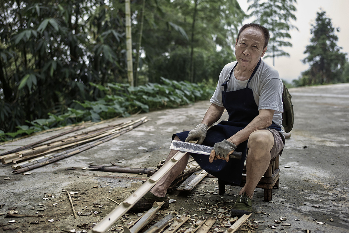 Bamboo Worker - Shunan Bamboo Forest, China
