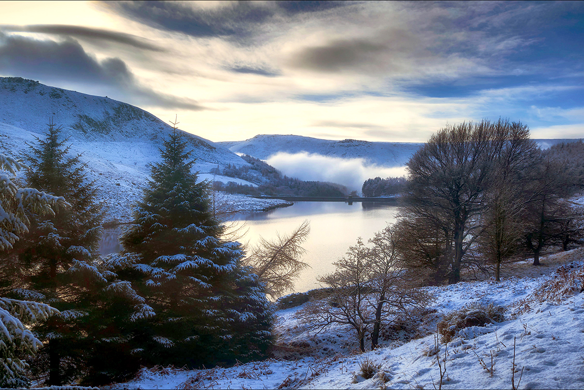 Yeoman Hey Reservoir in Winter