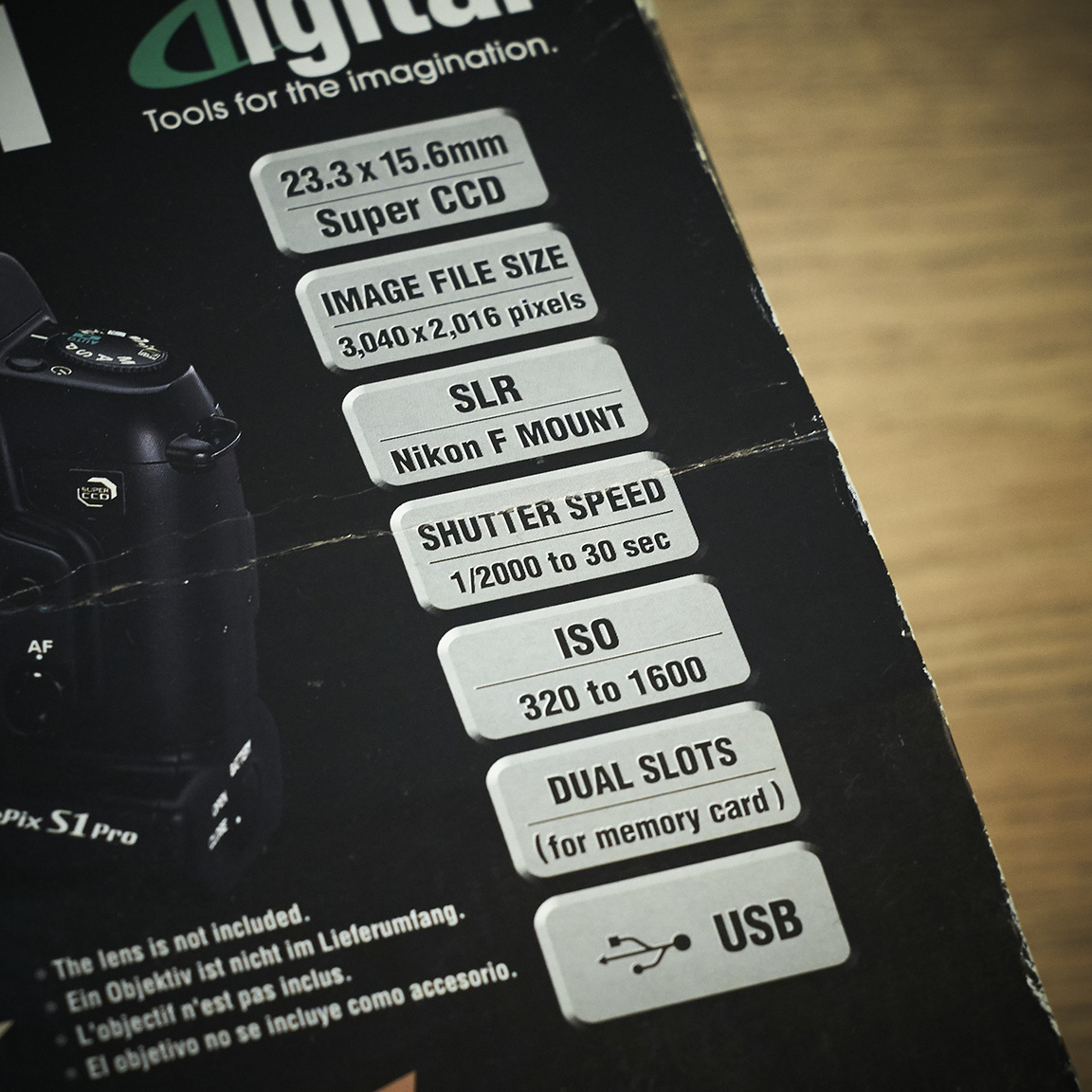 Fujifilm Finepix S1 Pro Camera Specifications