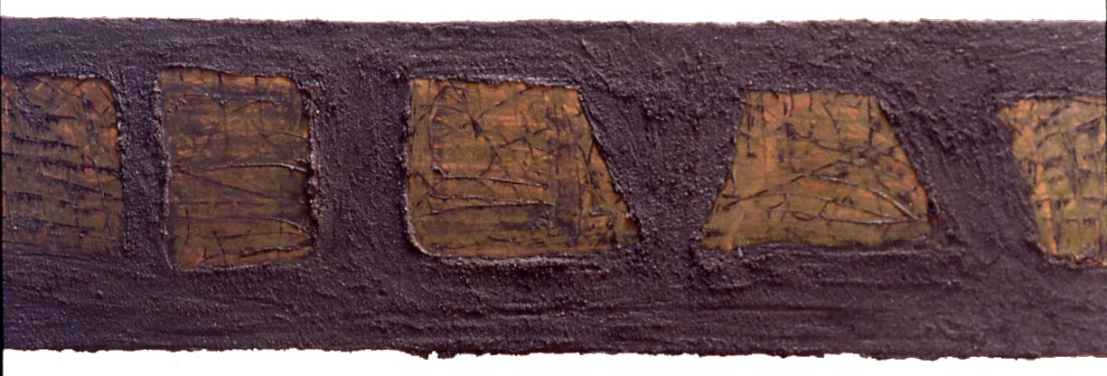 """""""Untitled 3 (bus),"""" approx. 15"""" x 38"""", oil on canvas, ©1981"""