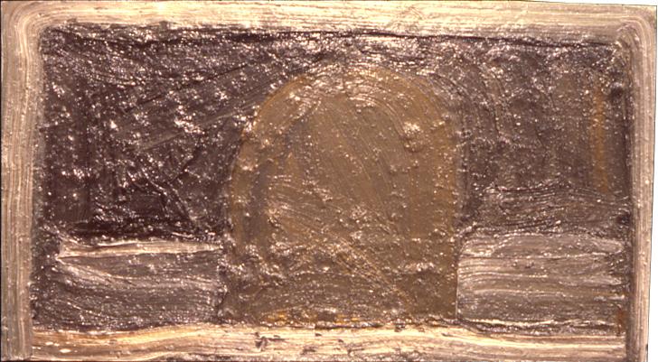"""gravestone,"" 18"" x 38"", oil on canvas, ©11.1981"