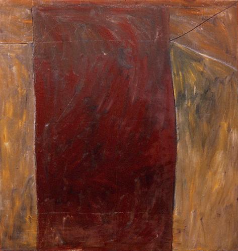 """""""monolith II,"""" 5' x 5'8"""", oil on canvas, ©12.1981"""