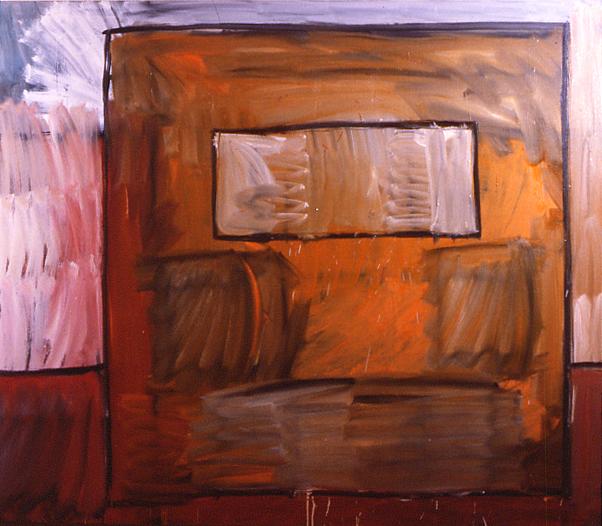 """Edifice 1"", 60"" x66"", oil on canvas, ©5.1982"