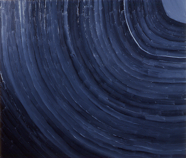 """""""focusing on the planetary rings,"""" 6' x 7', oil on canvas, ©3.20.1983"""