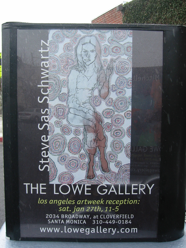My  Geologic Portrait  of Tanja Gompf was used to advertise my 2008 exhibit at The Lowe Gallery in Santa Monica.
