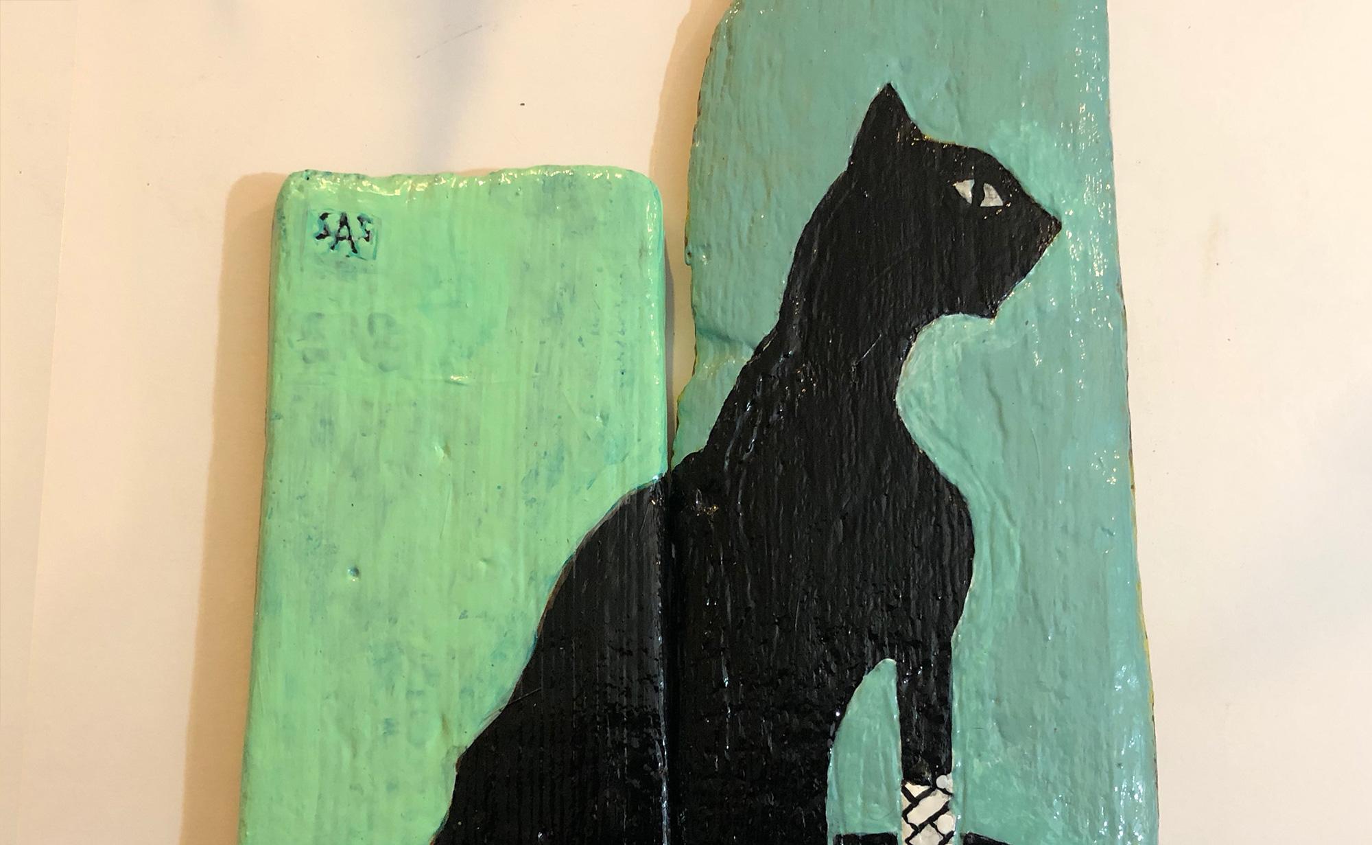 Bandaged Cat, detail