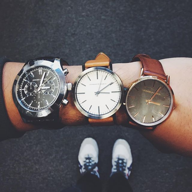 you know, just triple LCing today! 🤓 so fun to see fellow HR staff rocking their @leonardandchurch watches!
