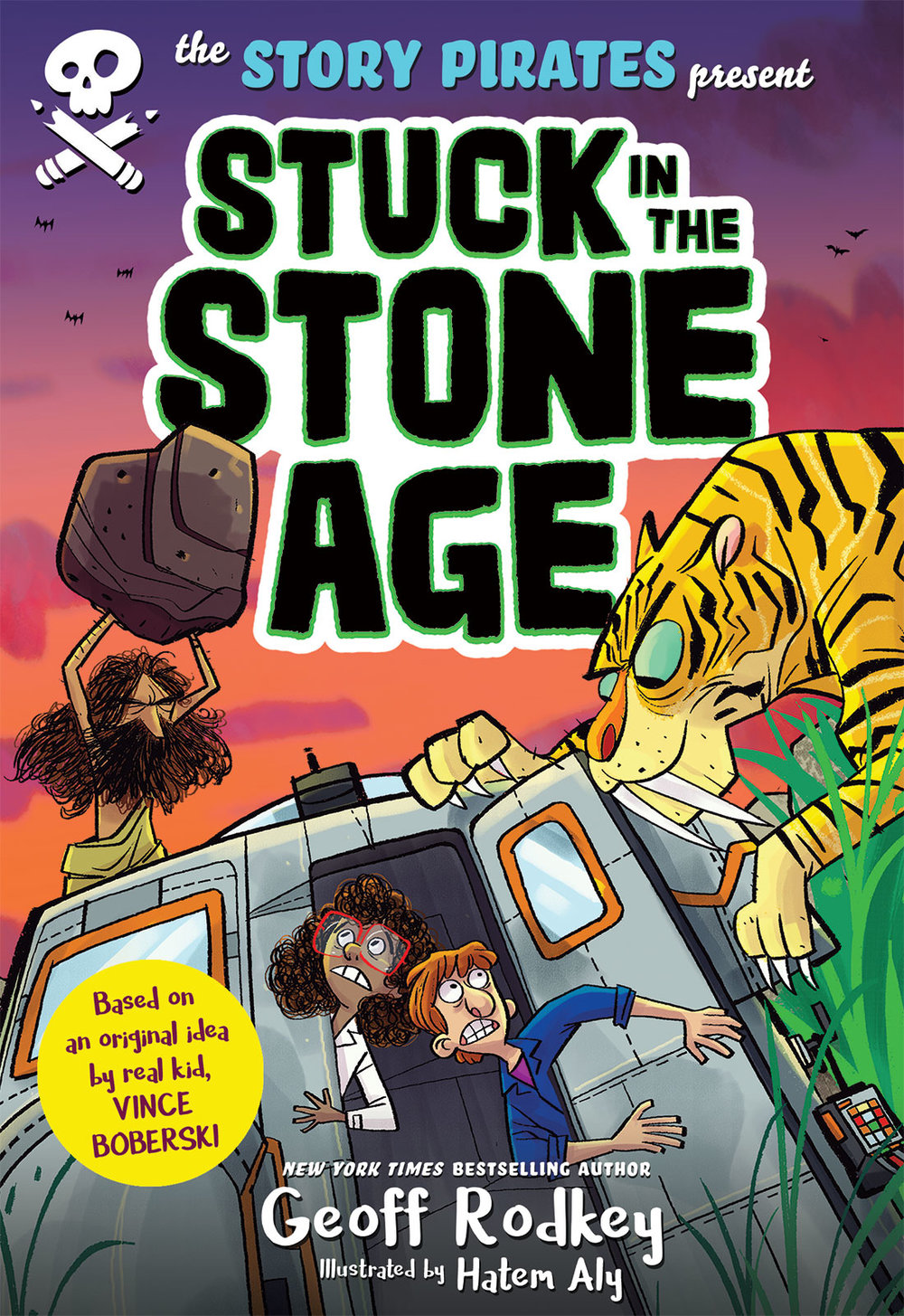Stuck in the Stone Age will be released in March 2018 by Rodale Kids, an imprint of Macmillan Publishing.