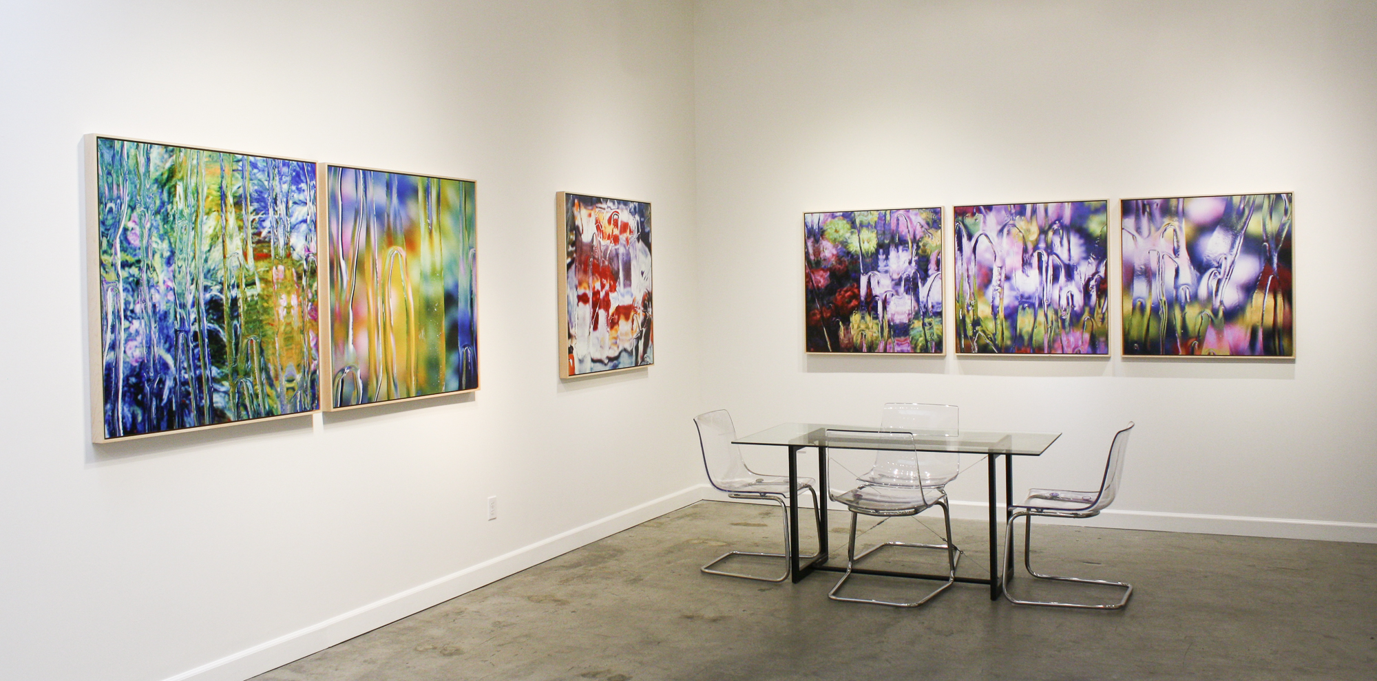 Gardens of Abstraction show at Slate Contemporary in Oakland, CA