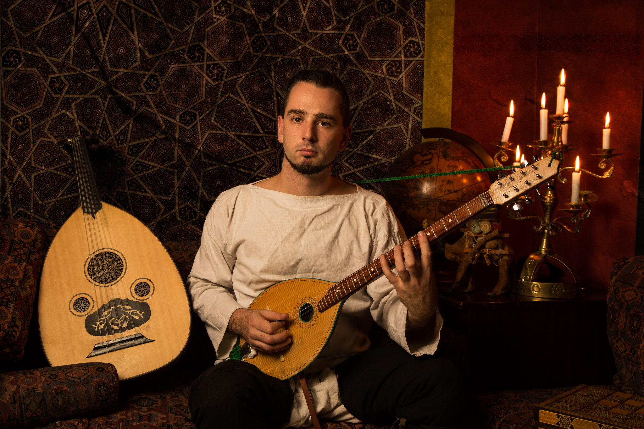 Portrait of musician Zdravko Peev for 'The Orientalist'