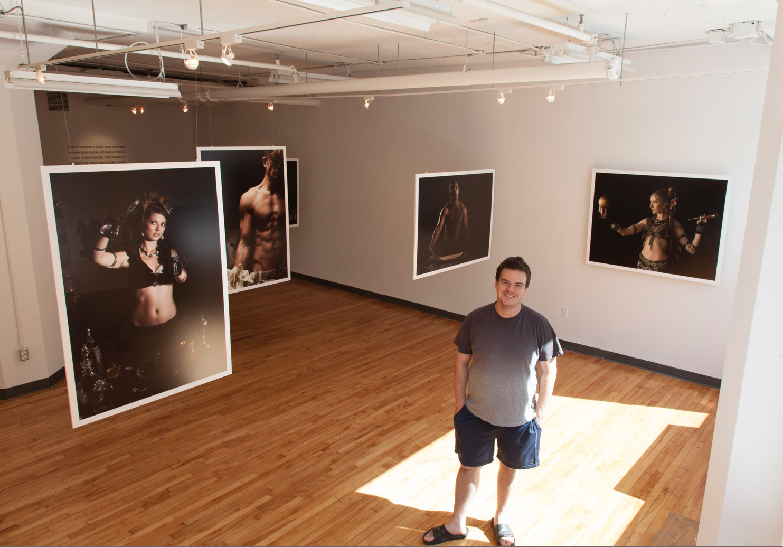 Photographer Pedro Bonatto at the OCAD Graduate Gallery in Toronto, Canada.