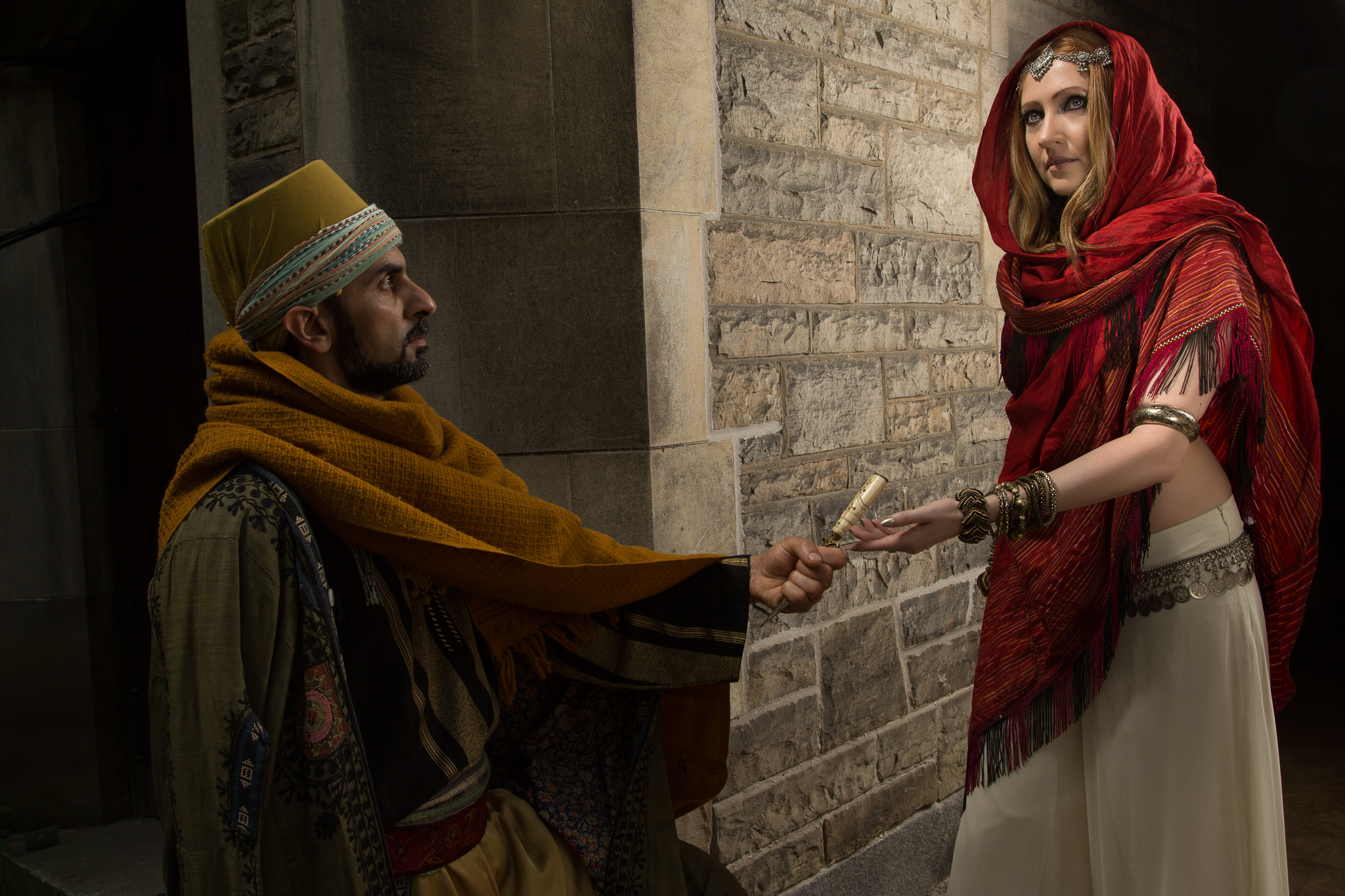 Dancers Atmo Kranti and Tatiana K, photographed for The Orientalist in Toronto, Canada.