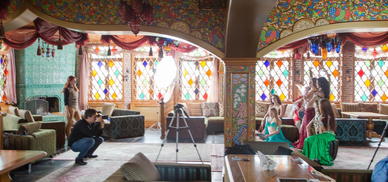 Behind-the-scenes image of the shoot with Isadora Dance Studio in Kiev, Ukraine.