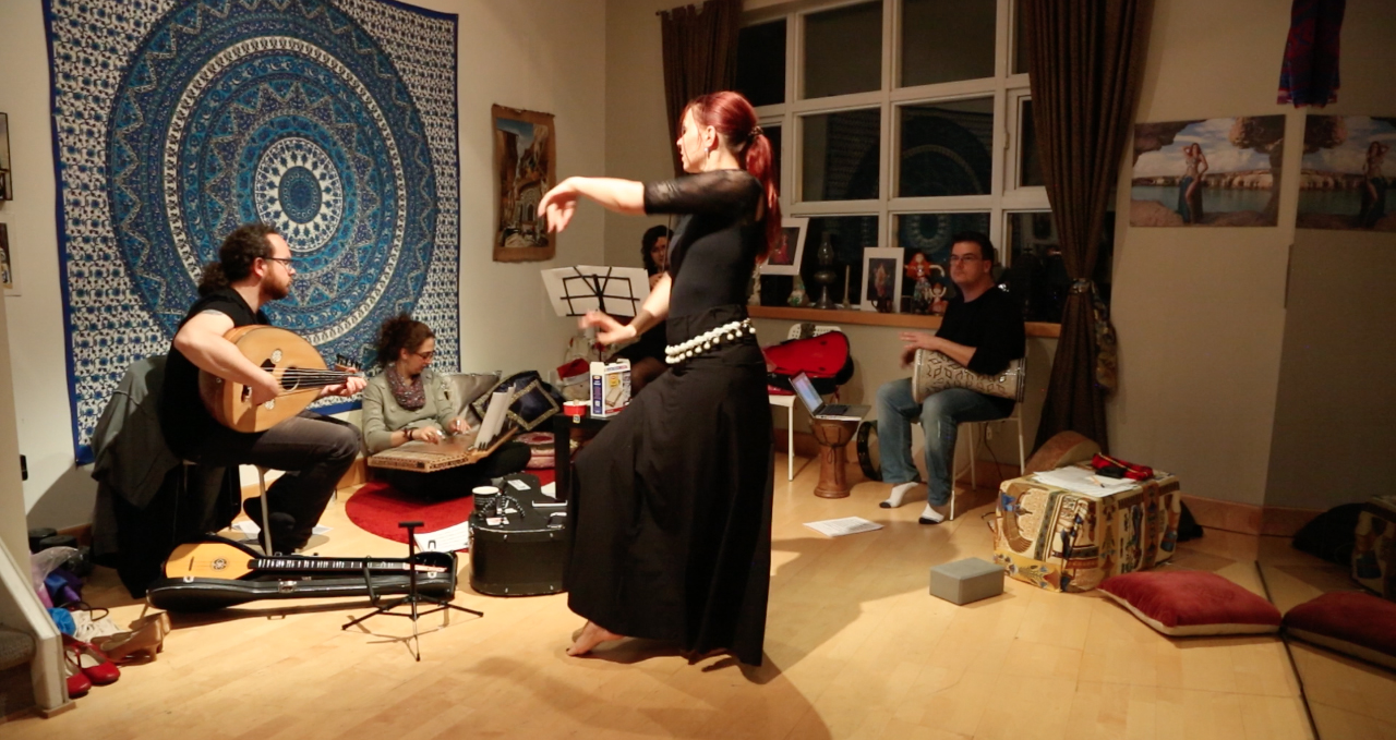 First rehearsal of the Blue Dot Ensemble in March 2017.