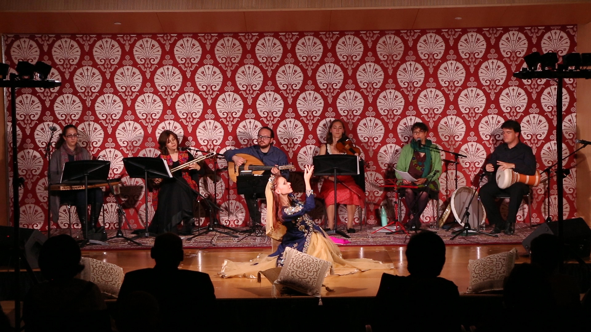 The Blue Dot Ensemble performing at the Ismaili Centre in Toronto on March 2018.