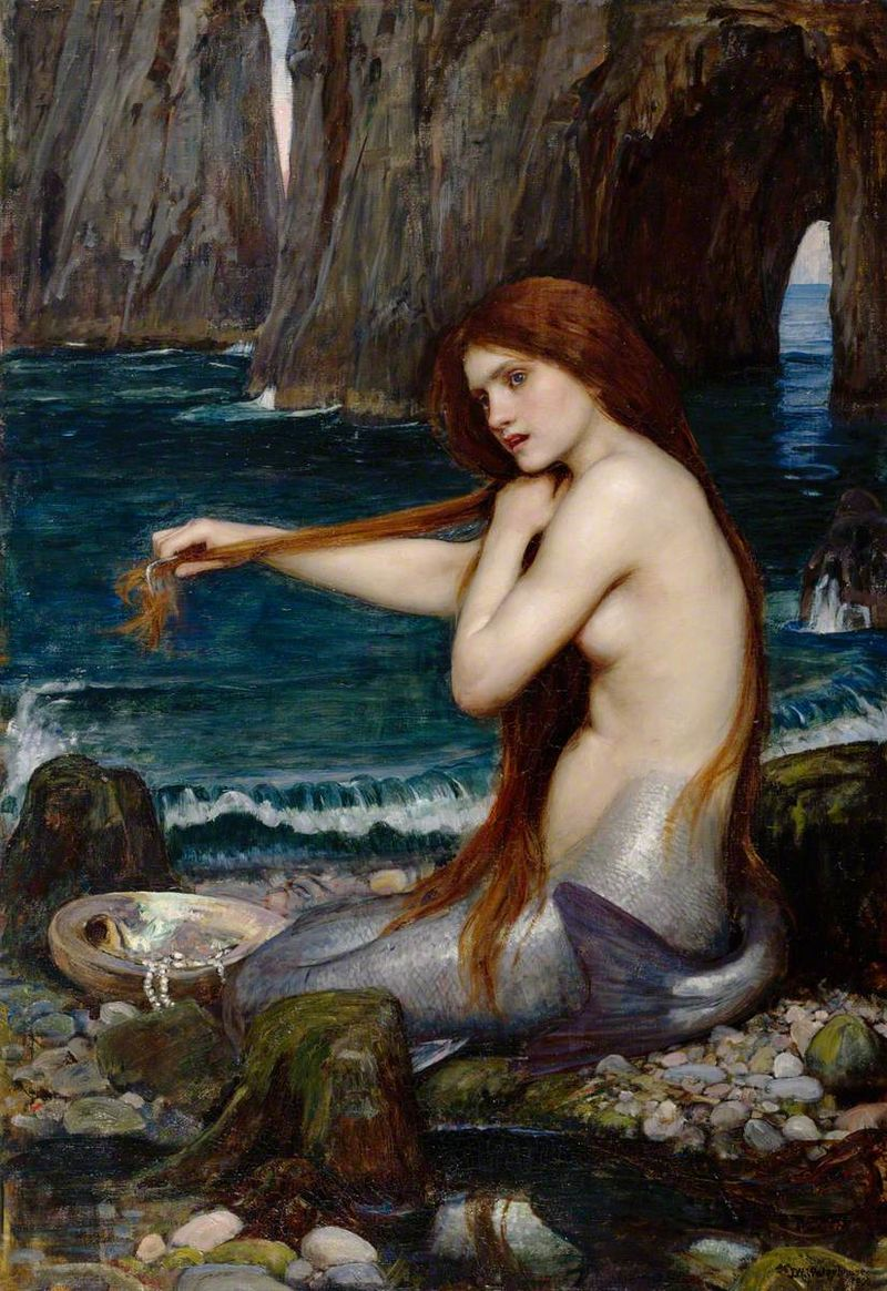 'Study for The Mermaid' by John William Waterhouse.