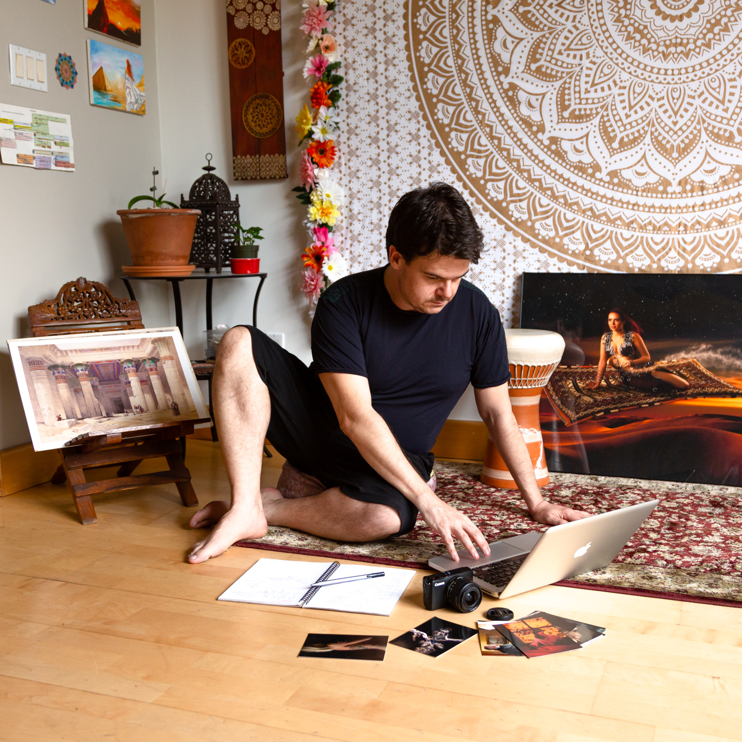 Pedro Bonatto at his home studio in Toronto. Photo by Iana Komarnytska.