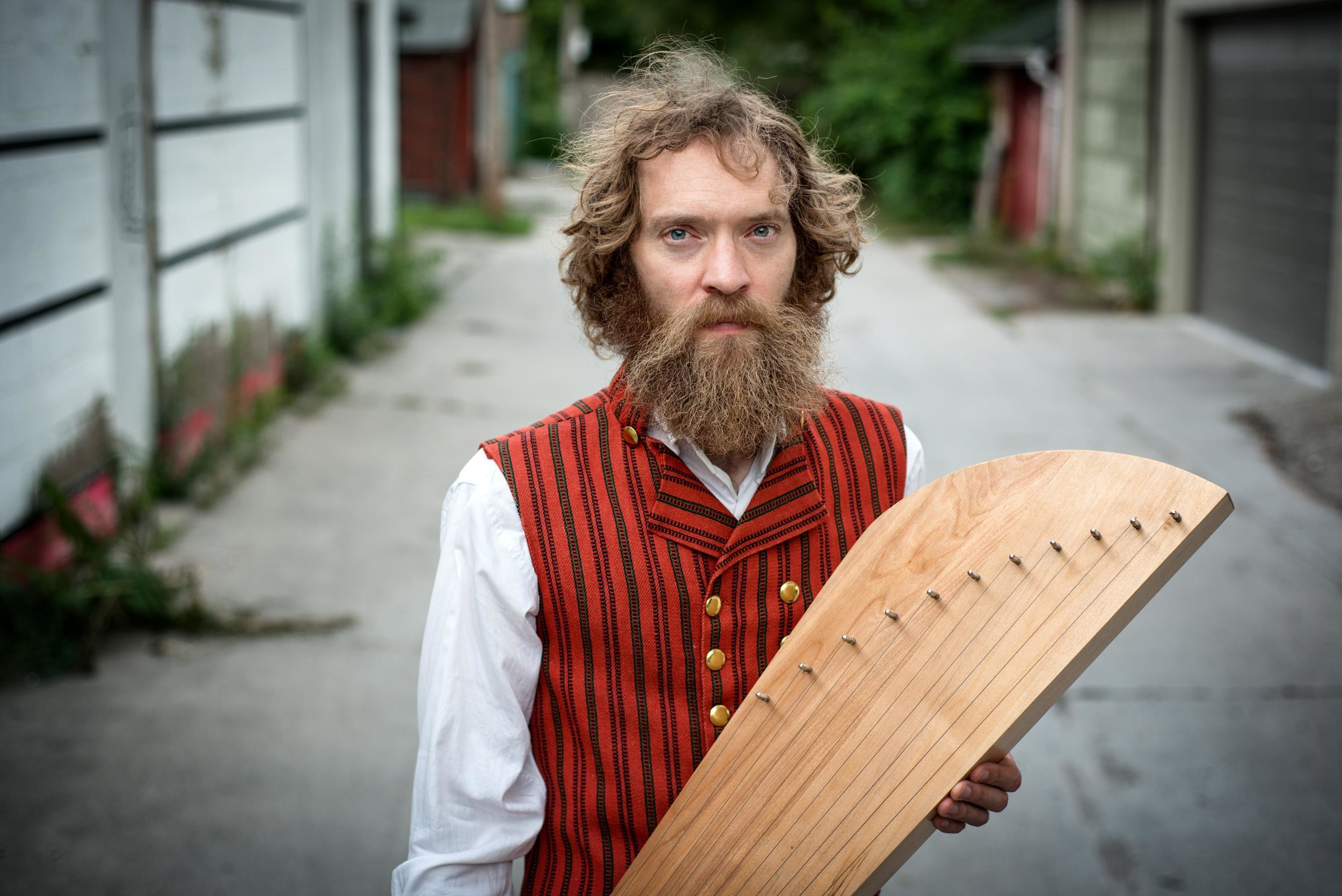 Musician and instrument maker Matti Palonen.