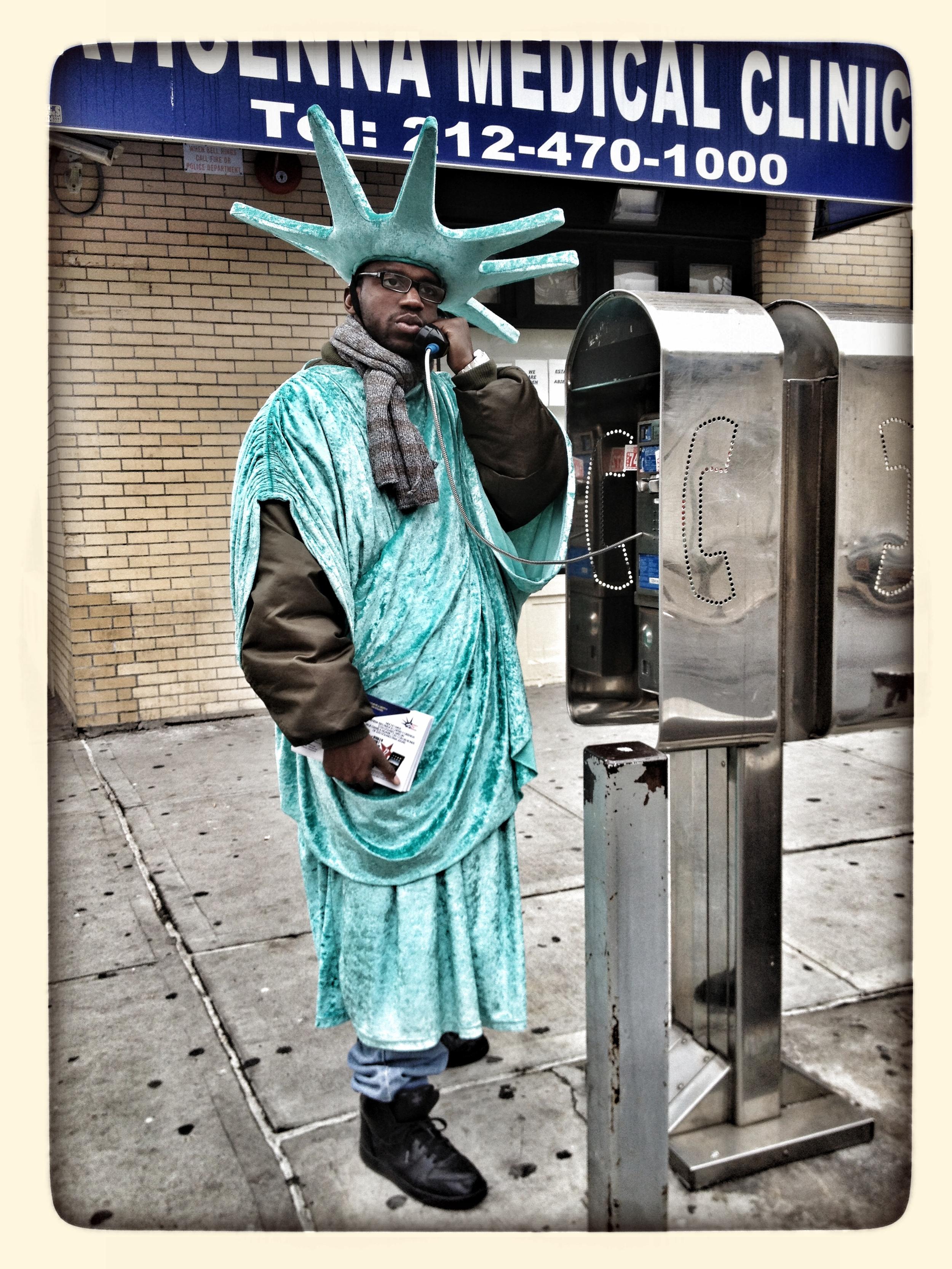 Tax handbill man in Harlem