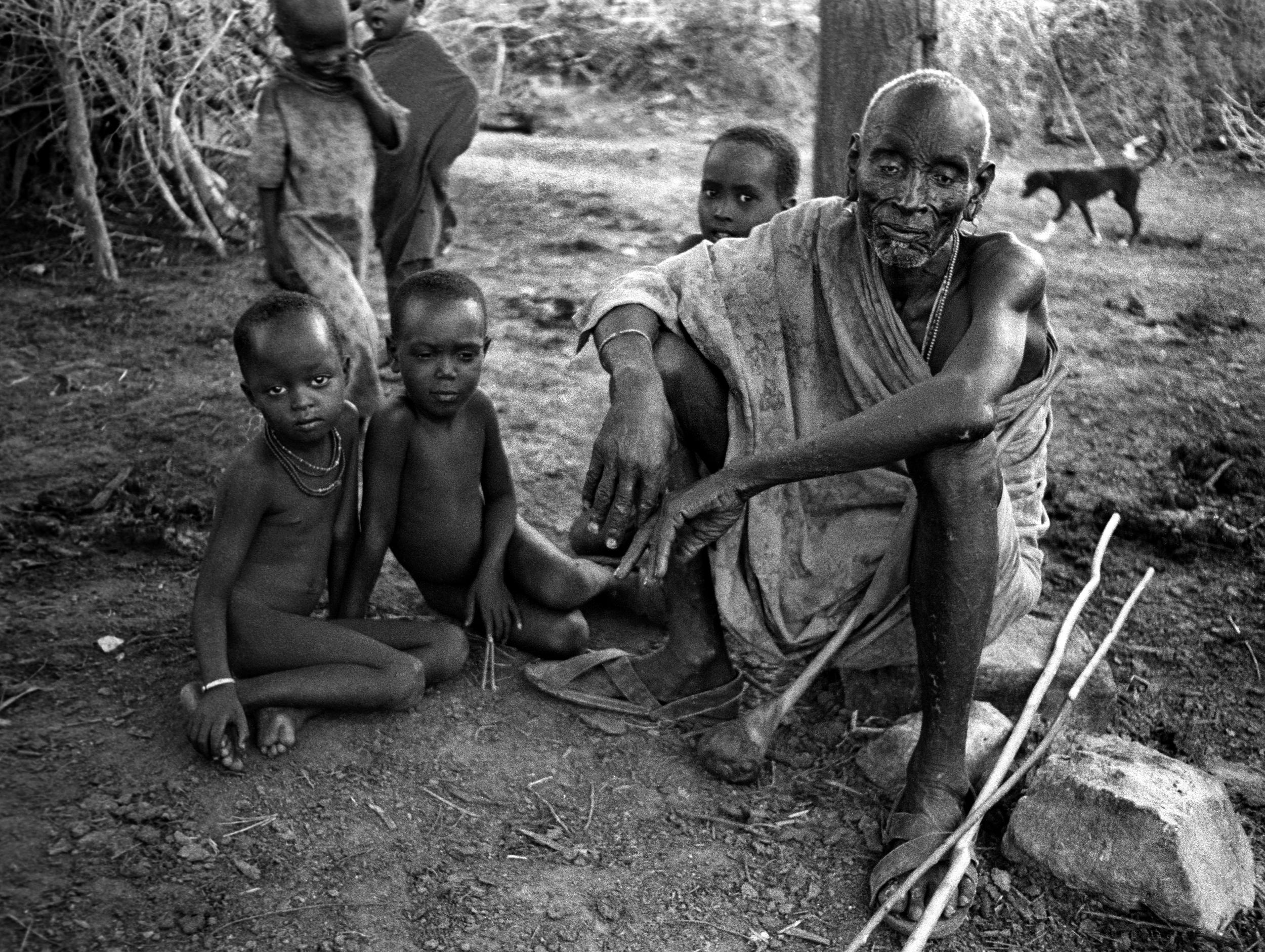 Samburu family, Marsabit, Kenya