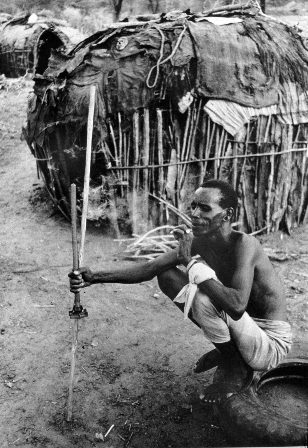Rendille man, Marsabit, Kenya