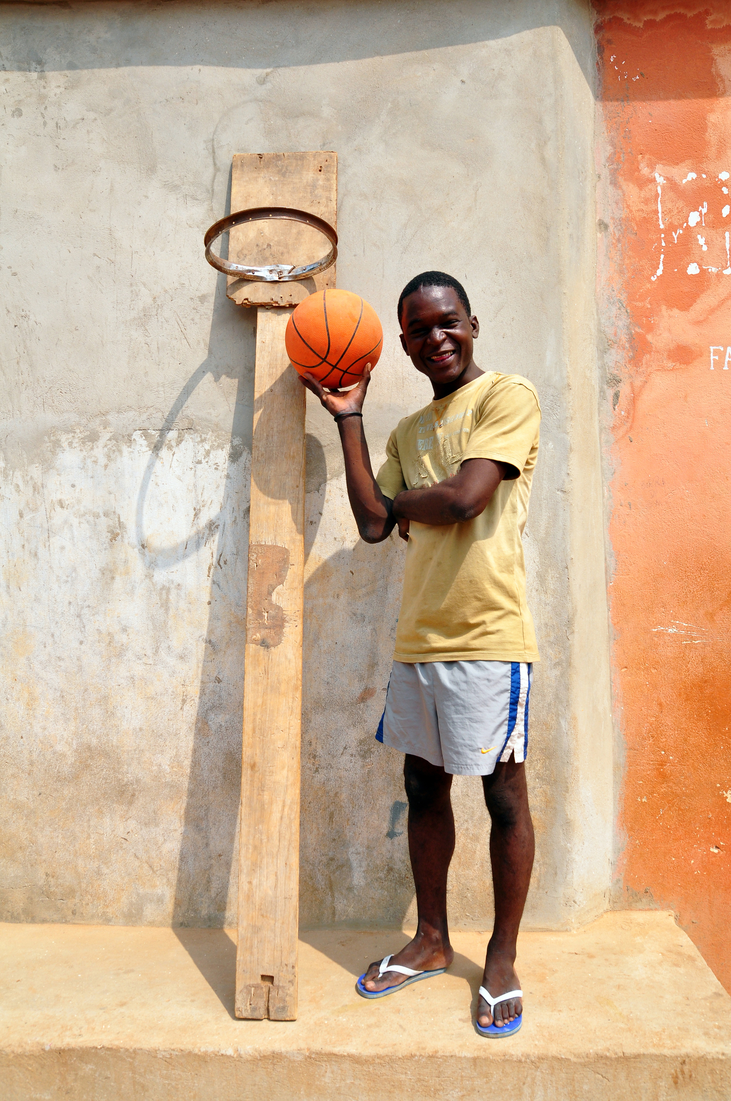 Makeshift basketball court, Luanda.
