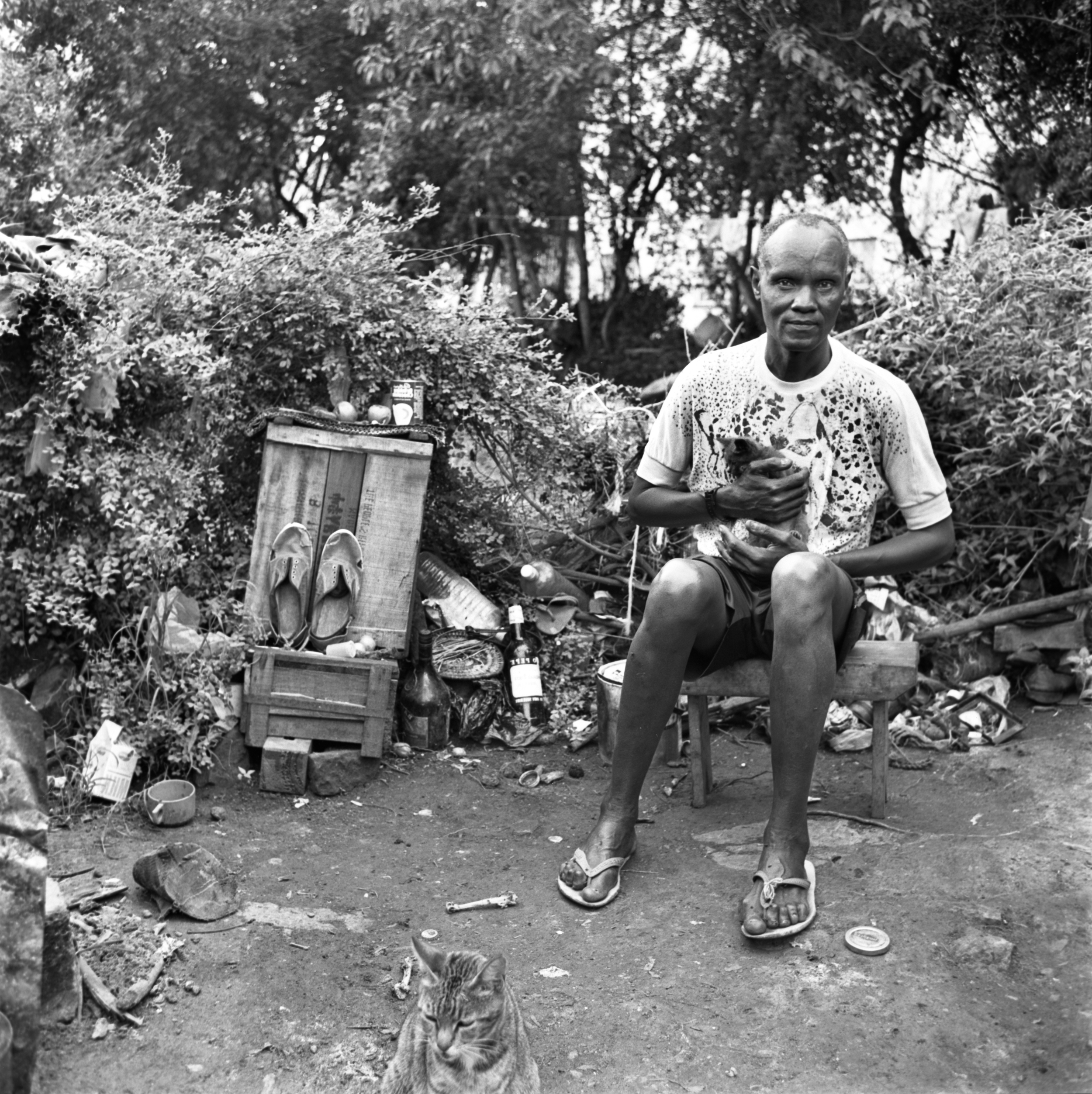 Chege, a squatter in Nairobi