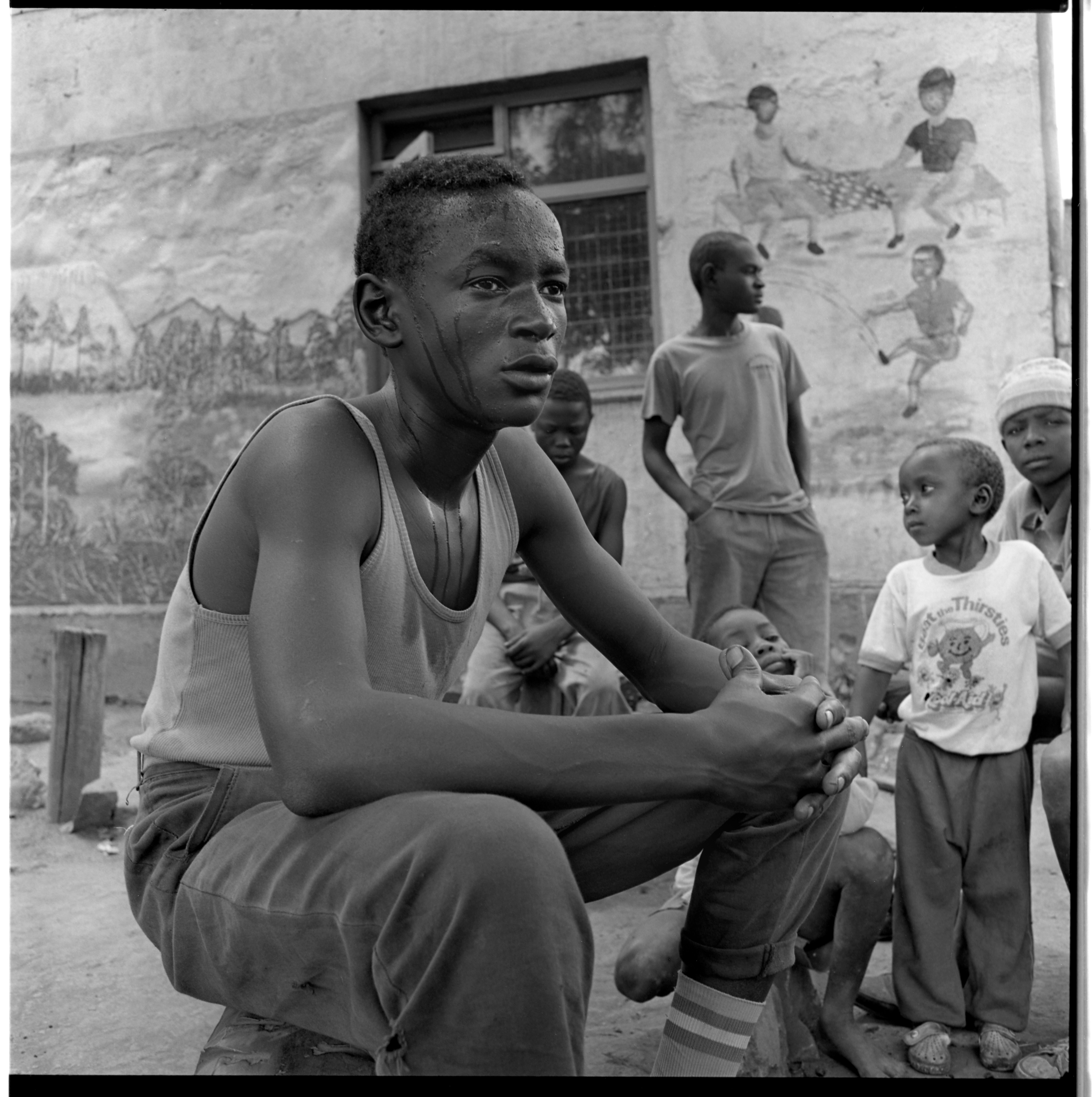 Street boys at a rescue center