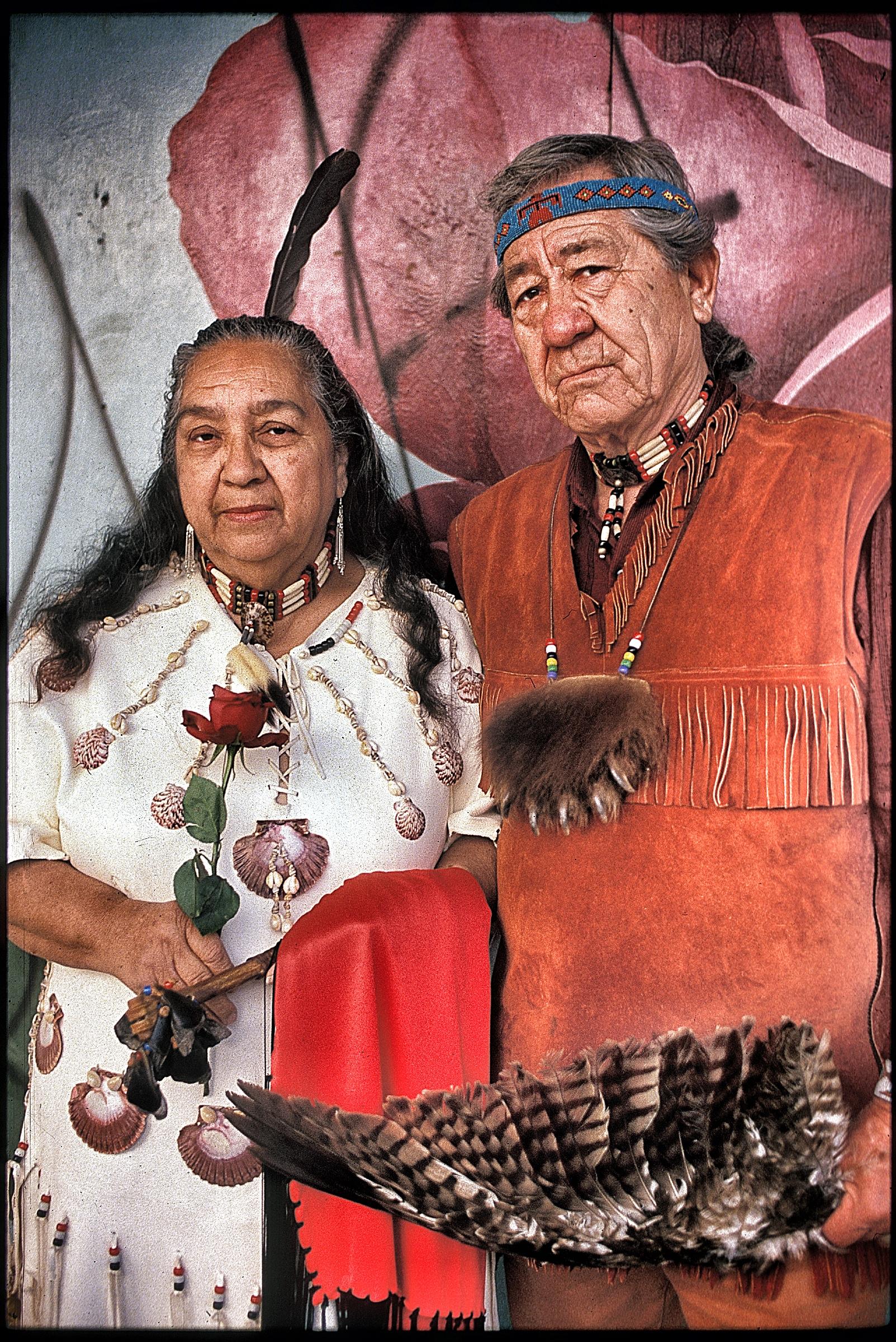 Gabrielino tribal leaders, Pasadena, 1991