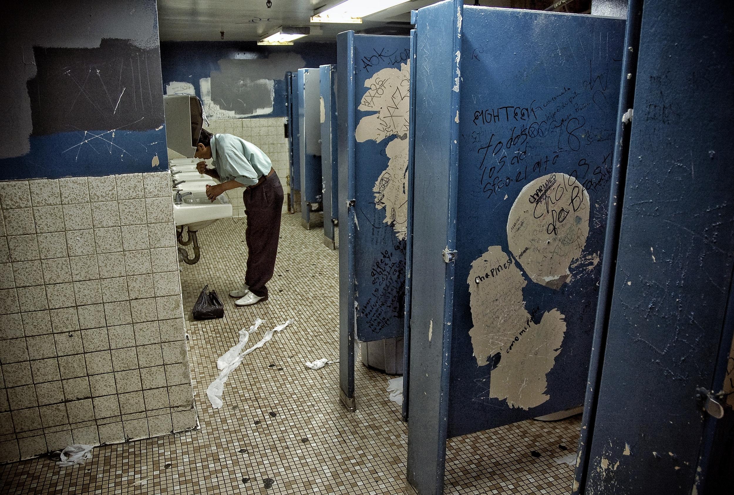 Sweatshop restroom