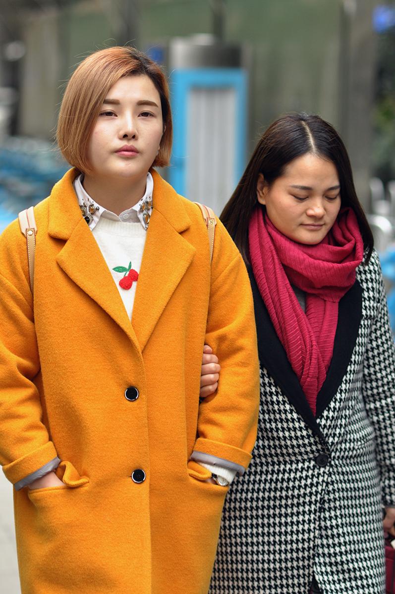 Winter coats, Wuhan